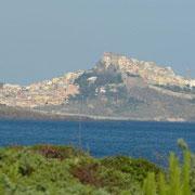 Das Highlight in dieser Region: Castelsardo - Blick von unserem CP