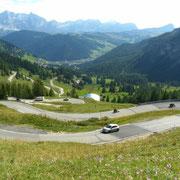 Am Grödner-Joch - Blick ins Alta Badia