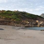 Blick vom Strand zum Stellplatz