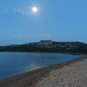Vollmond am CP Capo d'Orso