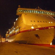unser Schiff Richtung Venedig