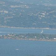 Blick vom Capo d'Orso auf den CP Isulleda