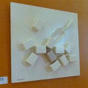 """""""Sucre blanc ou sucre candi ?"""". Composition bois.Collection privée."""