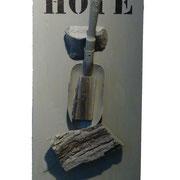 """Hoye"". Vieil outil sur bois. Collection privée."