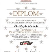 Trainer Prävention und Therapie