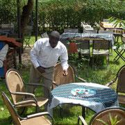 Vorbereitung Gartenparty