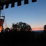 Journalclub in der Abendsonne