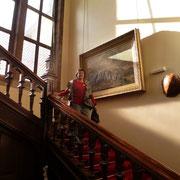 Auf der ehrwürdigen Treppe des Arthur Findlay College, Stansted, 2016, JV Trust Week