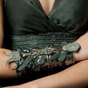 Michèle Jarry des Loges,Collection 'Gris Acier' Bracelet Le Viking