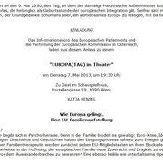 Einladung zum Europatag