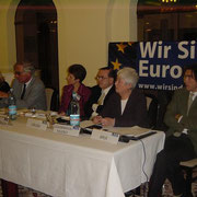 Zdenka Becker, Alfred Payrleitner, Margareta Stubenrauch, Jiří Gruša, Barbara Coudenhove-Calergi, Emil Brix (v.l.n.r.)