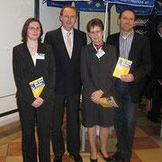 Nadja Wozonig, Othmar Karas, Margareta Stubenrauch und Hannes Heissl (v.l.n.r.)