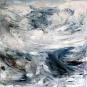 Wind 1 - 100x100 cm, Acryl auf Leinwand - 2016