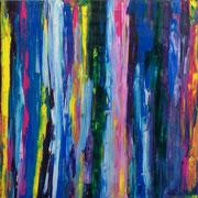 Blau 6 - 100x100 cm, Acryl auf Leinwand - 2015