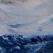 Ocean 9 - 60x50 cm, Acryl auf Leinwand- 2016
