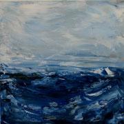 Ocean 5 - 50x50 cm, Acryl auf Leinwand- 2016