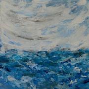 Ocean 2 - 50x50 cm, Acryl auf Leinwand- 2016