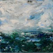 Ocean 3 - 50x50 cm, Acryl auf Leinwand- 2016