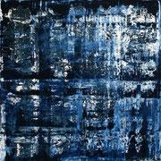 Blau 7 - 100x100 cm, Acryl auf Leinwand - 2016