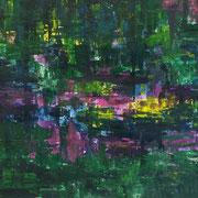 Forrest - 100x100 cm, Acryl auf Leinwand