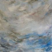 Wind 2 - 100x100 cm, Acryl auf Leinwand - 2016
