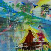 O.T.   100 cm x 120 cm   Eitempera, Acryl, Öl auf Leinwand