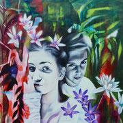 Daydreams   120 cm x 100 cm   Acryl, Öl auf Leinwand