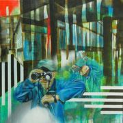 Sucher (Anton Algrang)   100 cm x 100 cm   Acryl, Öl auf Verbundplatte