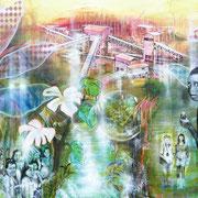 O.T.   100 cm x 140 cm   Eitempera, Acryl, Öl auf Leinwand
