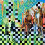 O.T.  100 cm x 100 cm  Acryl, Öl auf Leinwand