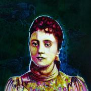 Clara   100 cm x 100 cm   Eitempera, Öl auf Leinwand