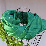 MALACHIT-pflanzengefärbter Seidenloop