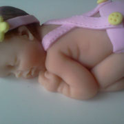 bomboniera battesimo scatoletta fimo neonato  FIMOCHEPASSIONE