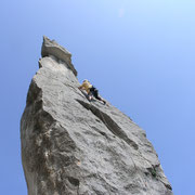 Kletterausflug in Italien