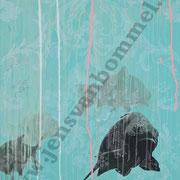 """Pastellkarpfen unter UV-Barock"""", 2014, 130 cm x 90 cm, 1. Ebene bei Tageslicht"""