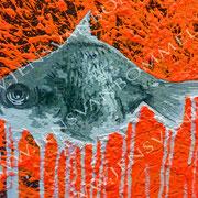 ohne.gold.fisch.trio, 2014, 240 cm x 120 cm (Detail)