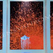 ohne.gold.fisch.trio, 2014, 240 cm x 120 cm