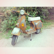 Materialimitation Rost auf Vespa P50, 2011