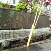 生垣からフェンスへの交換工事