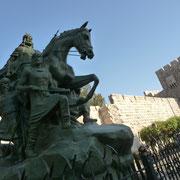 Reiterstandbild vor der Zitadelle