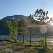 Übernachtungplatz | Lyngenfjord ca. 22:00 Uhr