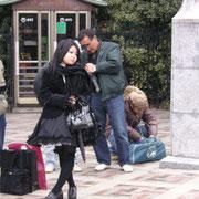 Hippies am Park in Tokio