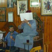 der Vorleser im Café Nofara