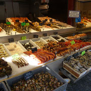Früchte des Meeres in Trouville am Fischmarkt