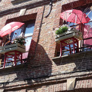 ... diesen ungewöhnlicher Fensterschmuck ...