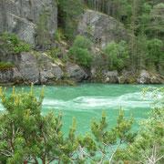 die Farbe des Wassers