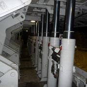 Hydraulikstützen zur Absicherung