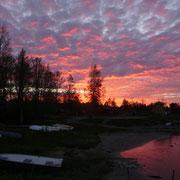 Abendhimmel in Ratan (ca. 23:10)