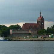 Blick von der Westernplatte auf Danzig