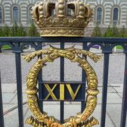 Wappen am Schloß in Stockholm (Stockholm finden Sie auf einer Extraseite)